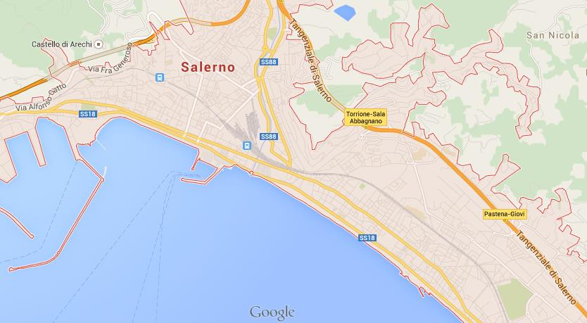 Map Of Salerno