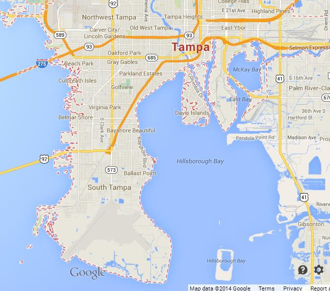 Map of Tampa