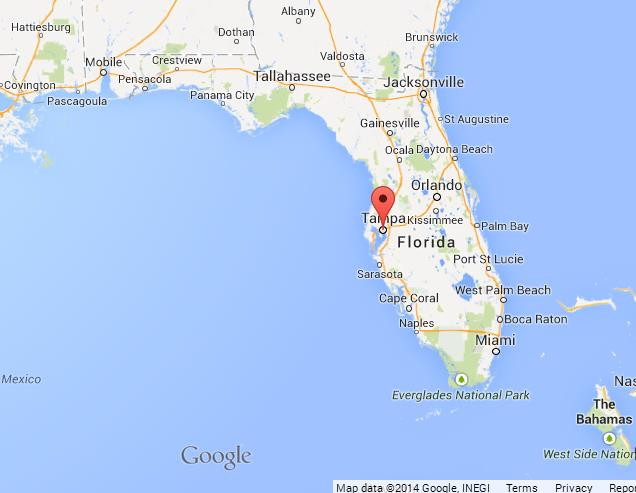 Tampa on Map of Florida World Easy Guides