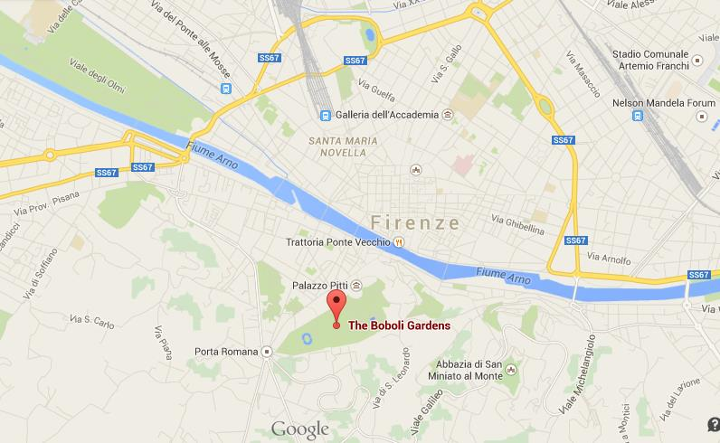 Where Is Boboli Gardens On Map Of Florence