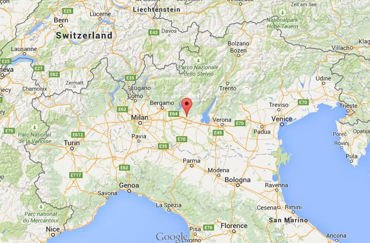 where is brescia map north italy