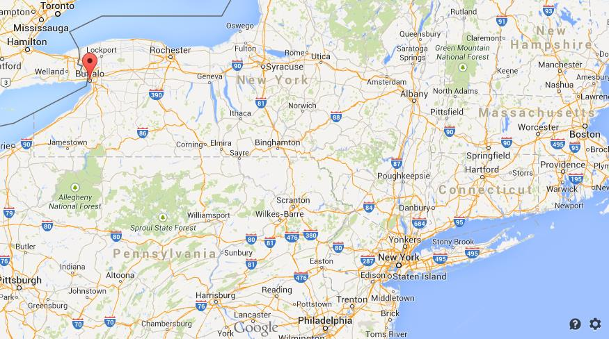 Where Is Buffalo On Map Of New York State World Easy Guides - Where is buffalo