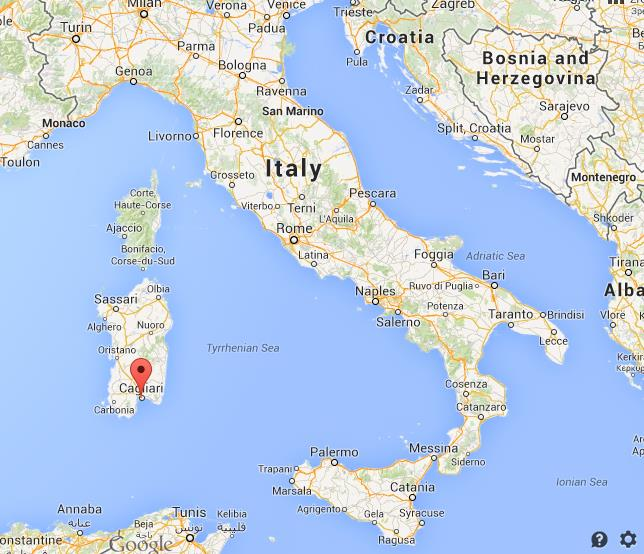 Where Is Cagliari On Map Of Italy