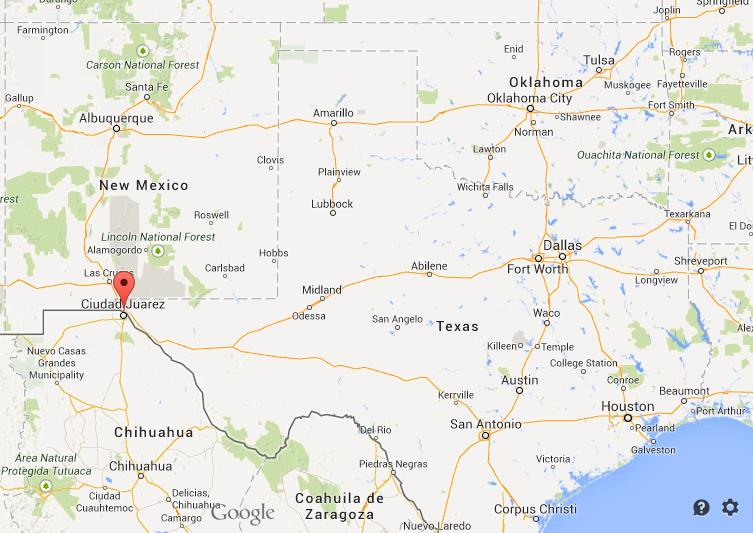 Where is El Paso on map of Texas World Easy Guides