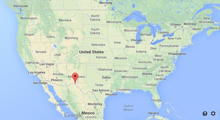 where is el paso on map of usa