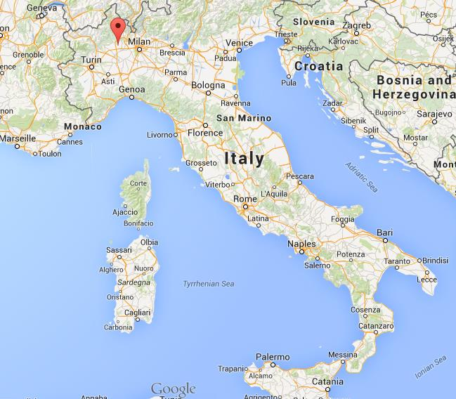 Where is Novara on map of Italy World Easy Guides