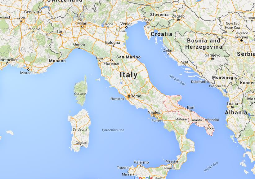 Where Is Puglia On Map Italy