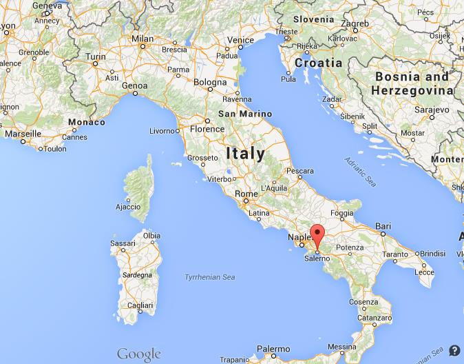 Where is Salerno map Italy