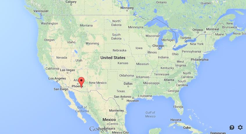 Where is Tucson on map of USA