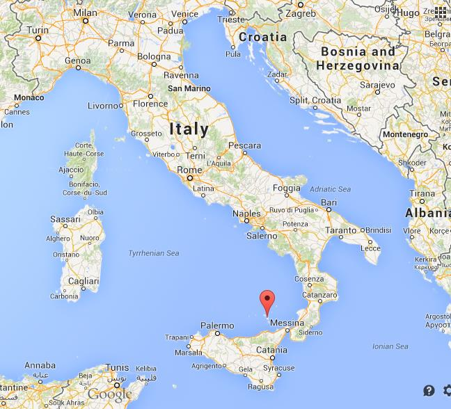 Where Is Lipari Map Italy