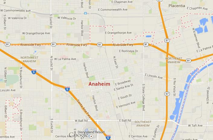 Map of Anaheim Map Of Anaheim on map of crystal cathedral, map of orange, map of staples center, map of venice beach, map of pope valley, map of copperopolis, map of lawndale, map of thousand palms, map of east hollywood, map of willits, map of los angeles, map of el toro, map of little saigon, map of boulevard, map of fashion valley, map of downtown disney district, map of disneyland, map of leucadia, map of marin city, map of alpine meadows,