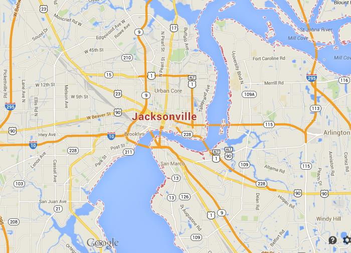 Map Of Jacksonville Com Pictures To Pin On Pinterest