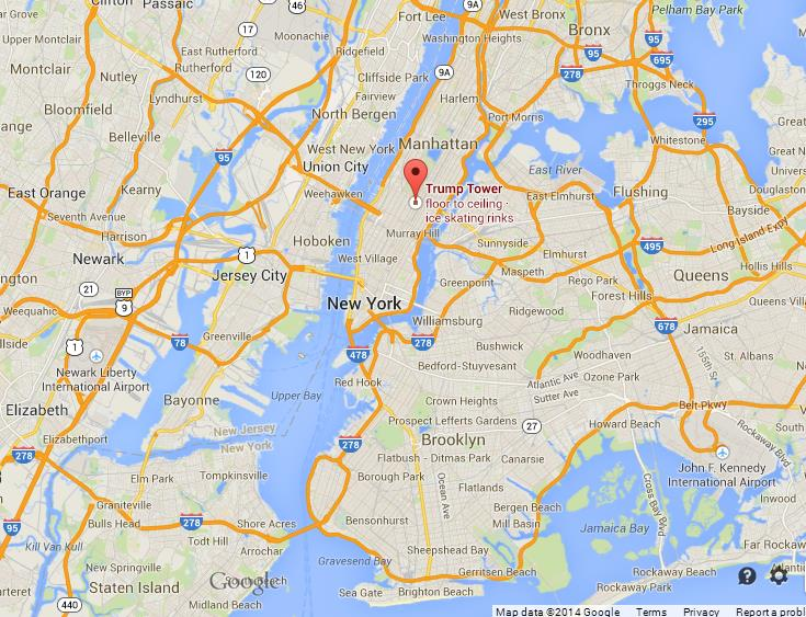 Trump Tower Nyc Map.Trump Tower On Map Of Nyc