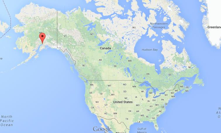 Where is Anchorage USA map