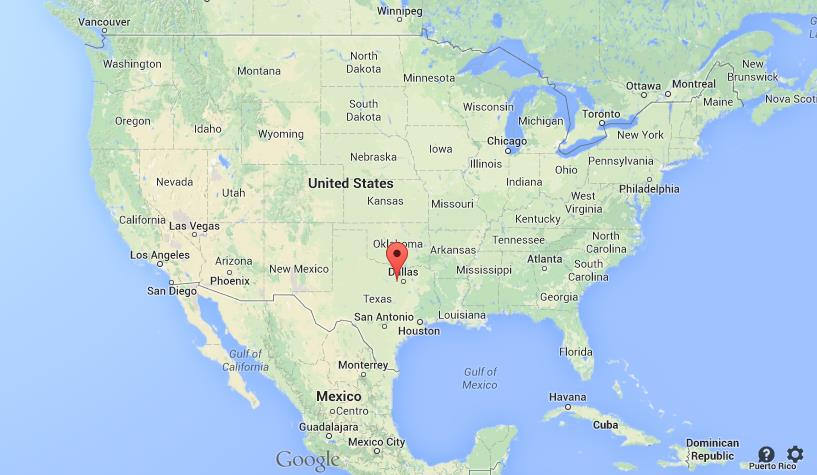 Where is Fort Worth on map of USA