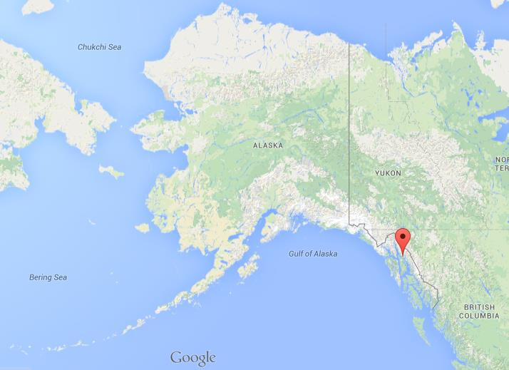 Where is Juneau on map of Alaska World Easy Guides