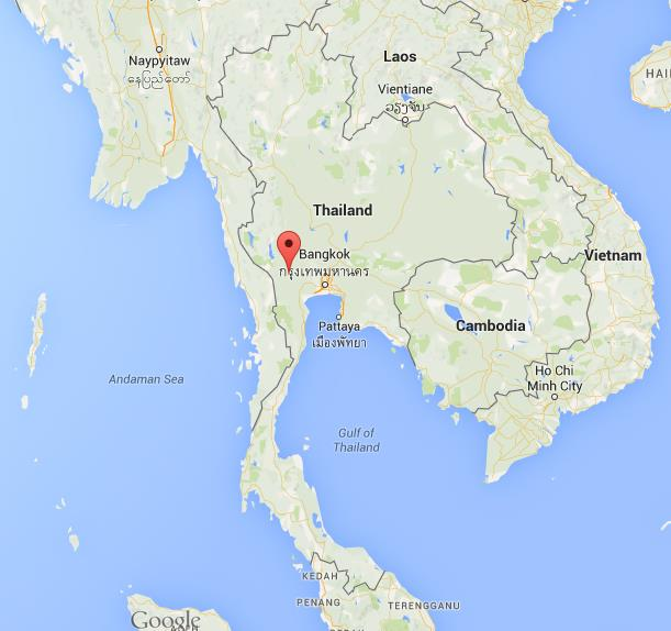 Where is Kanchanaburi on map Thailand World Easy Guides