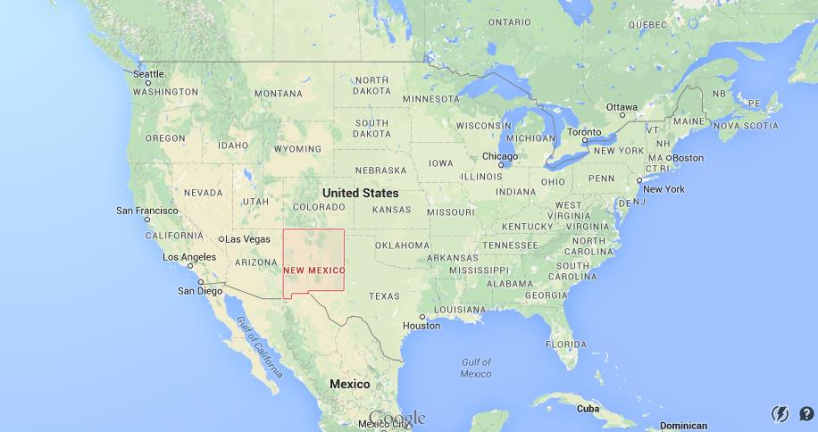 New Mexico On World Map.Where Is New Mexico On Usa Map