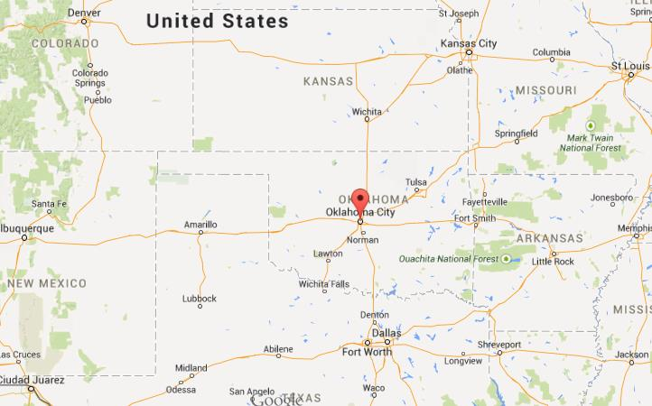 Where is Oklahoma City on map of Oklahoma World Easy Guides