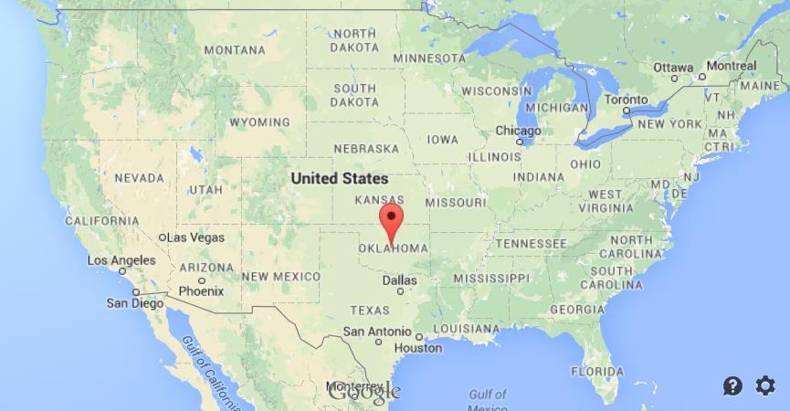 Oklahoma City On Us Map Where is Oklahoma City on map of USA