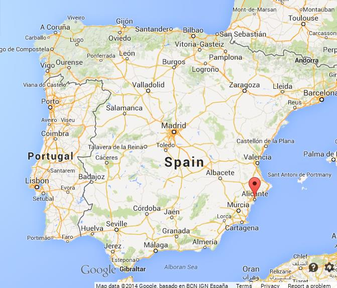 Alicante on Map of Spain World Easy Guides
