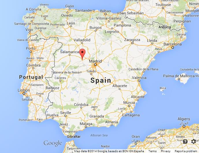 Avila on Map of Spain World Easy Guides