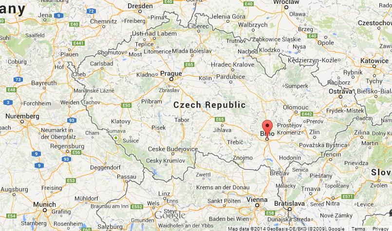 Brno on Map of Czech Republic World Easy Guides