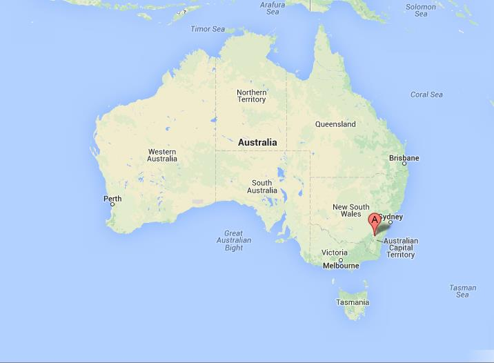 Australia Map Canberra.Canberra On Map Of Australia