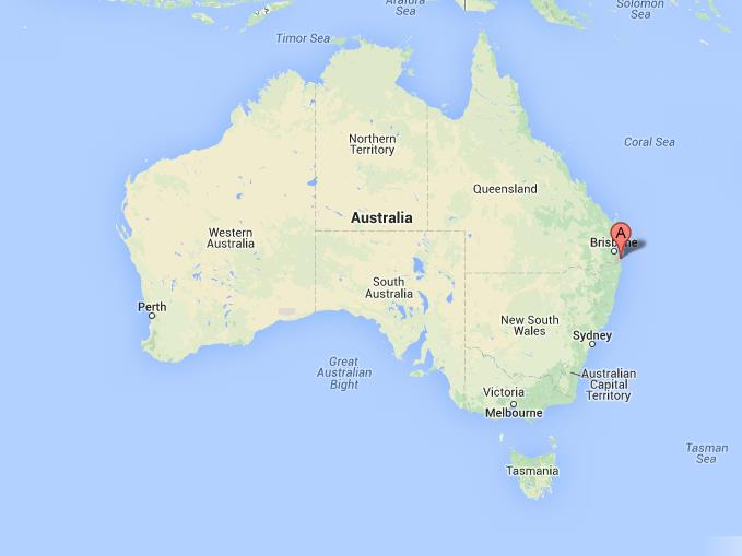 gold coast on map of australia