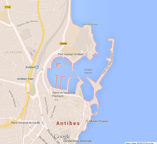 map of antibes
