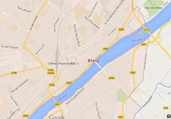Map of Blois World Easy Guides