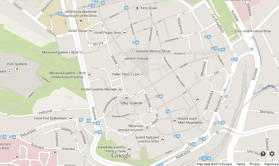 Map of Brno World Easy Guides