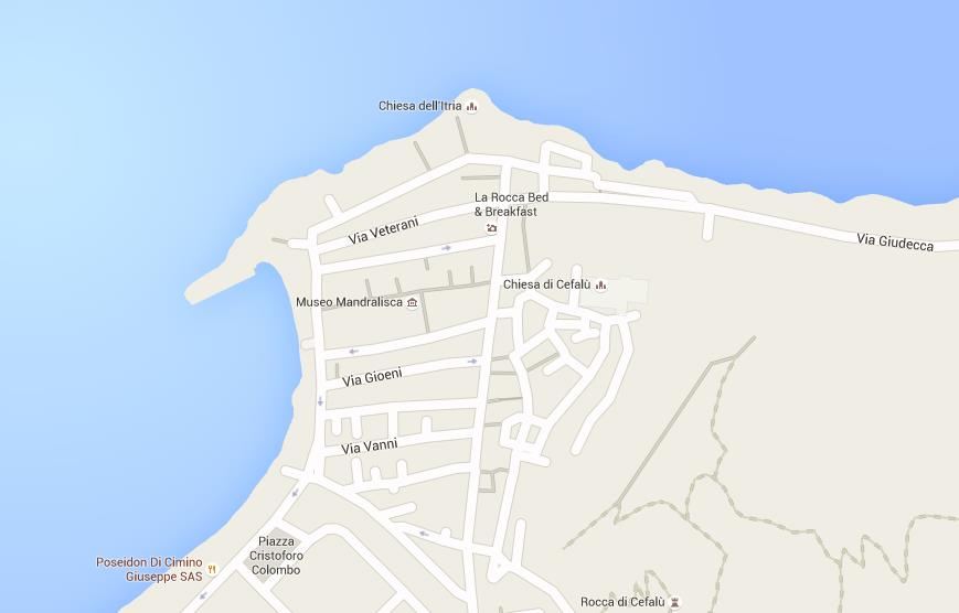 Map Of Cefalu
