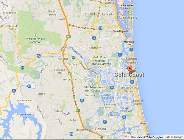 Gold Coast – Gold Coast Australia Map
