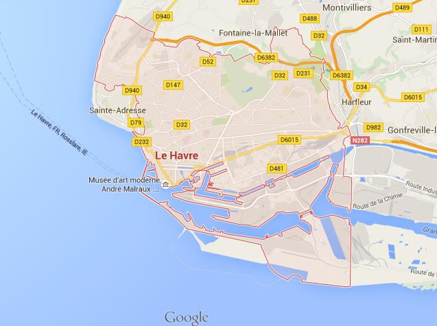 Map Of France Le Havre.Map Of Le Havre