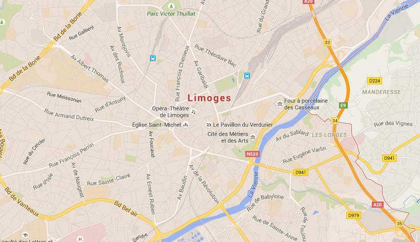 Map Of Limoges World Easy Guides - Limoges france map