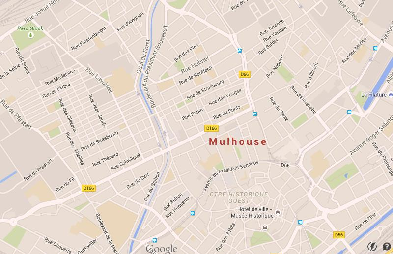 Map of Mulhouse World Easy Guides