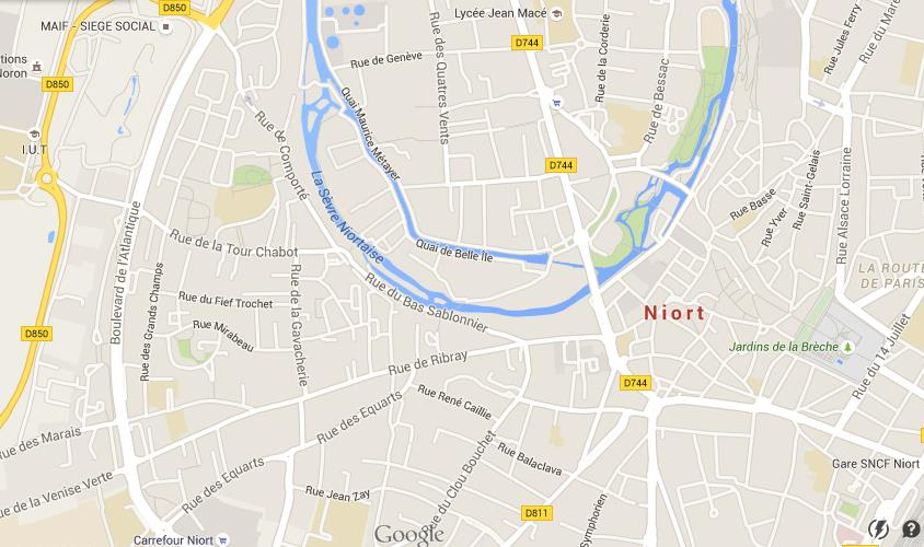 Map of Niort World Easy Guides