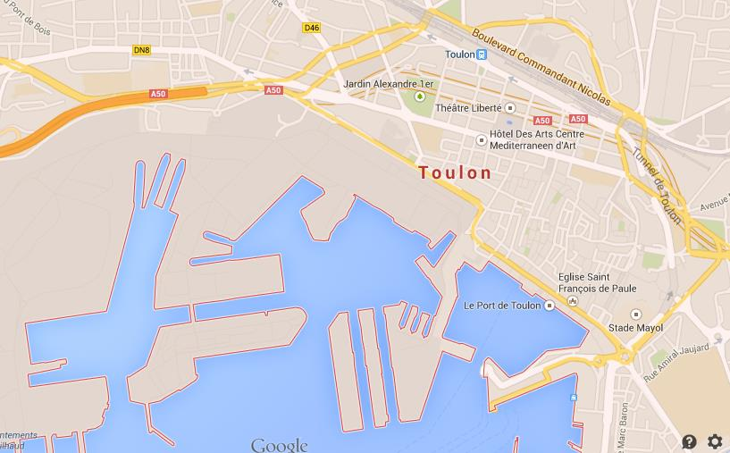 Map of Toulon