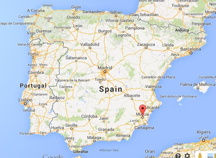Map Of Spain Murcia.Murcia On Map Of Spain