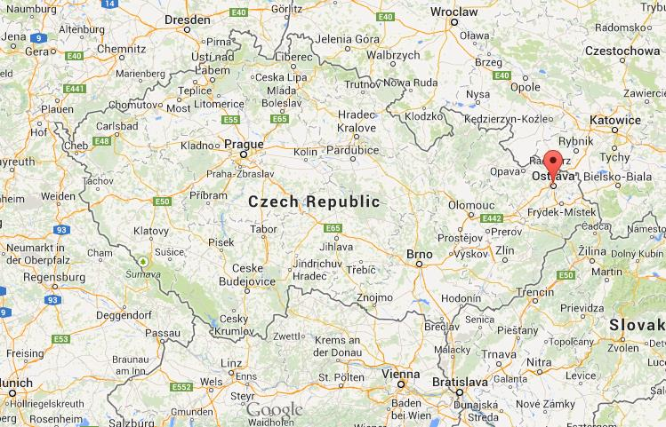 Ostrava on map of Czech Republic World Easy Guides