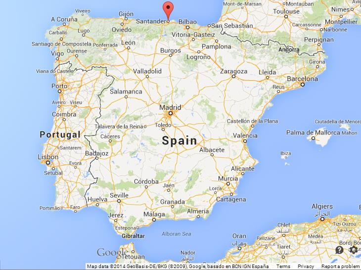 Santander on Map of Spain World Easy Guides