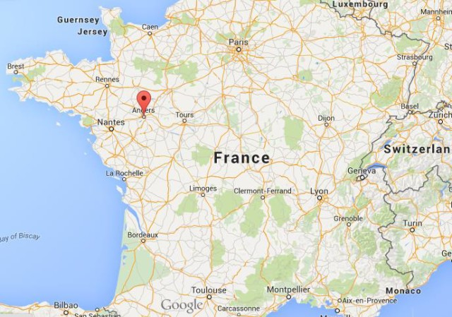Where Is Angers On Map France