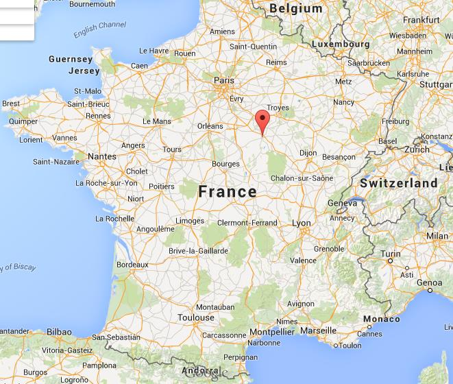 Where is Auxerre on map of France