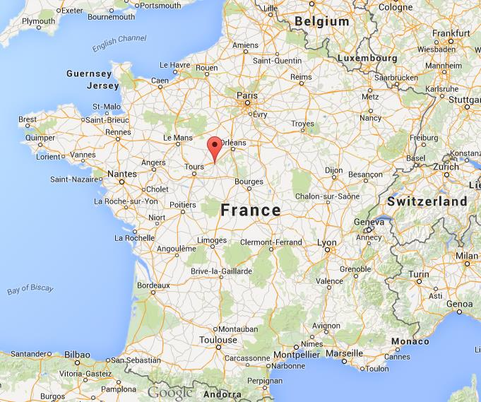 Where is Blois on map of France