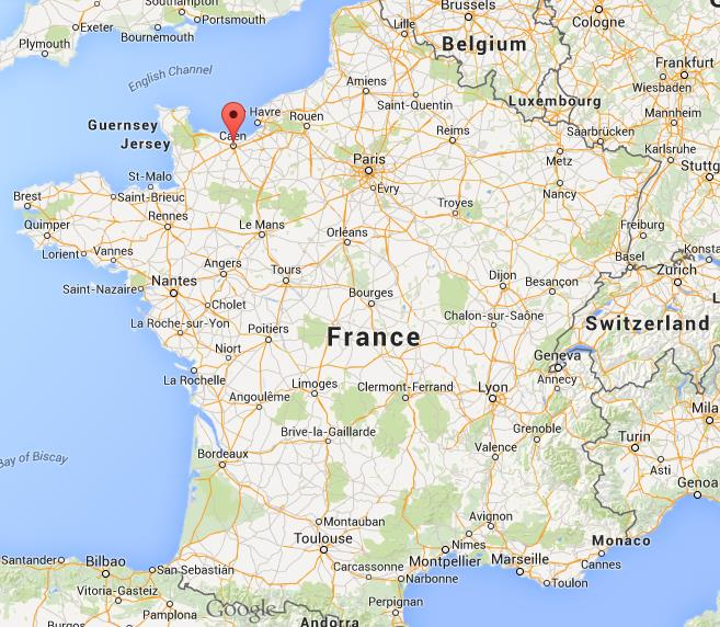 Where is Caen on map France World Easy Guides
