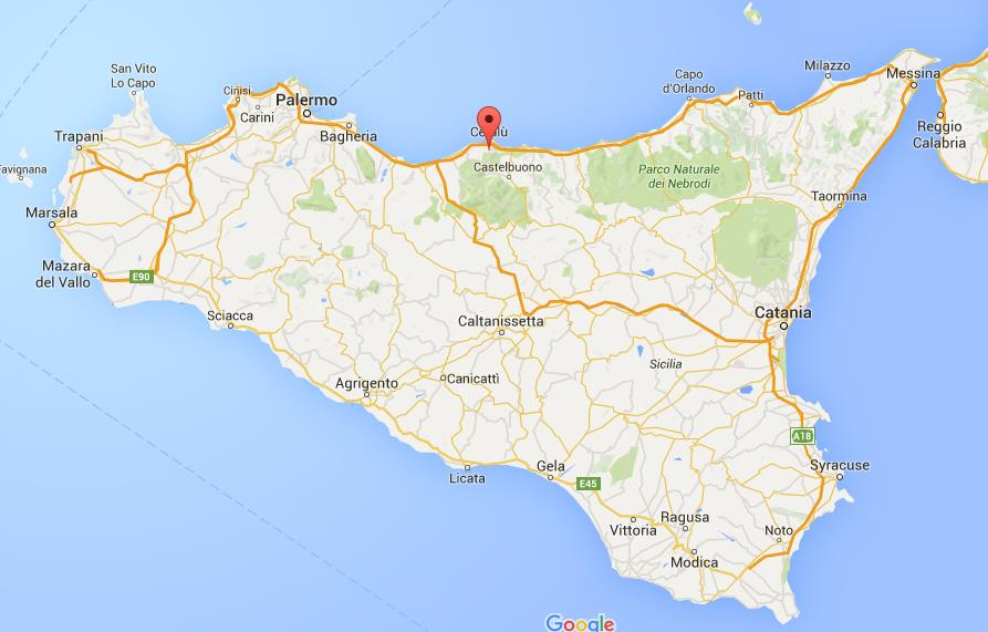 Where is Cefalu on map Sicily