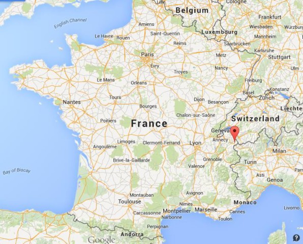 Where is Chamonix on map of France