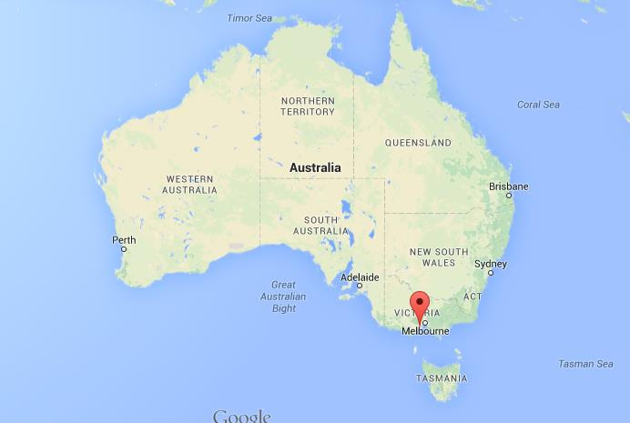 Where is Geelong on map of Australia