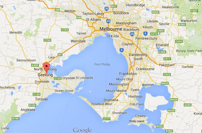 Where is Geelong on map of Melbourne area